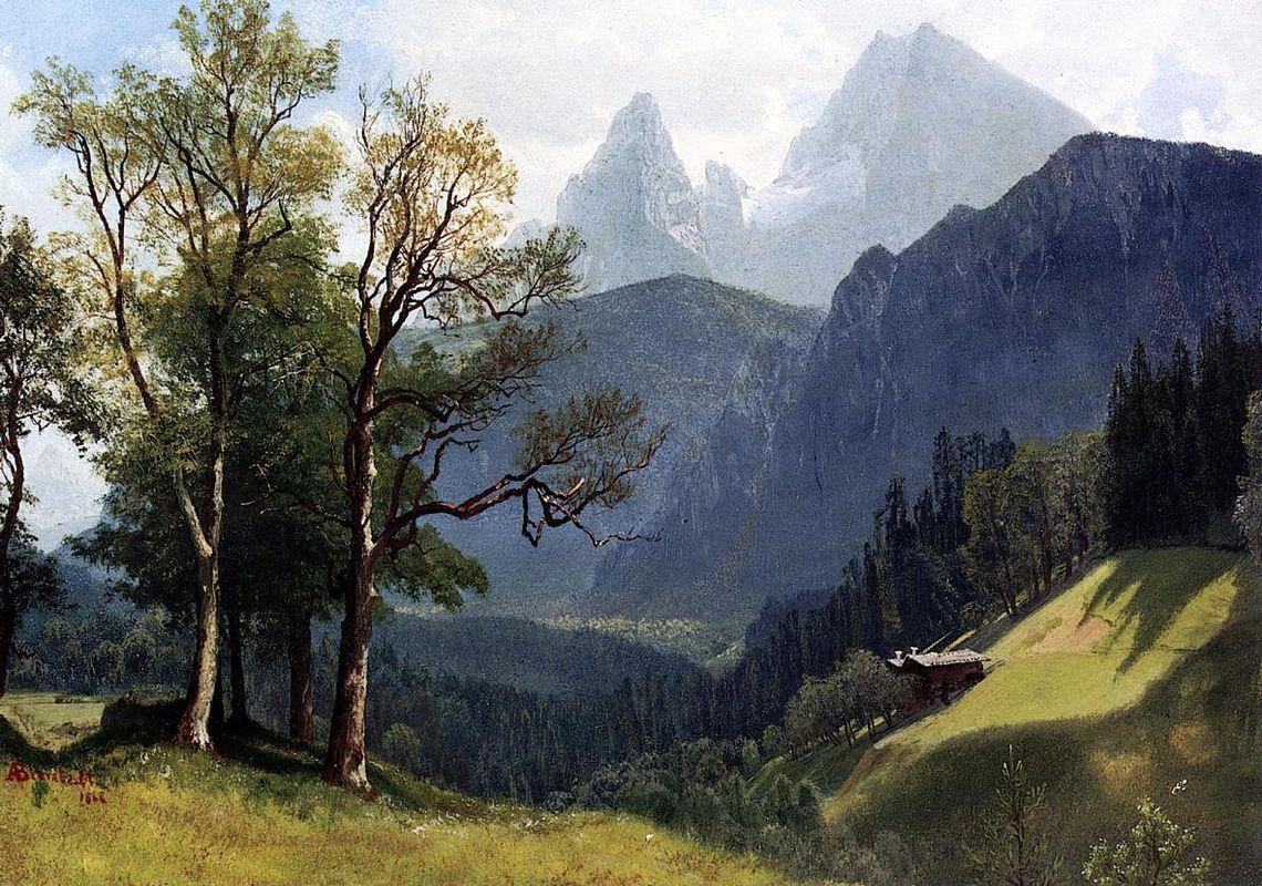 Tyrolean Landscape - Albert Bierstadt
