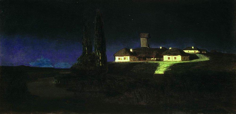 Ukrainian Night - Arkhip Kuindzhi