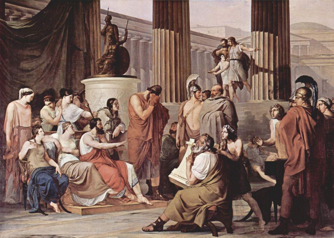 Ulysses at the court of Alcinous - Francesco Hayez
