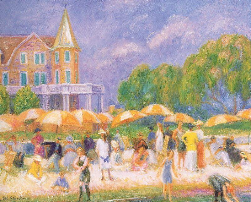 Umbrellas - William James Glackens