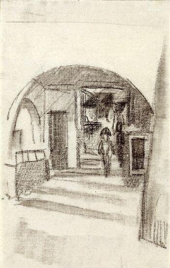 Under the arcades  - August Macke