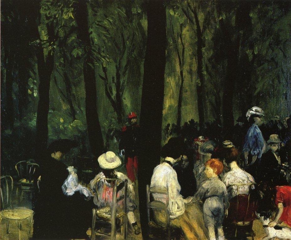 Under the Trees, Luxembourg Gardens - William James Glackens