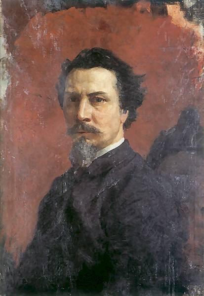 Unfinished Self-portrait - Henryk Siemiradzki