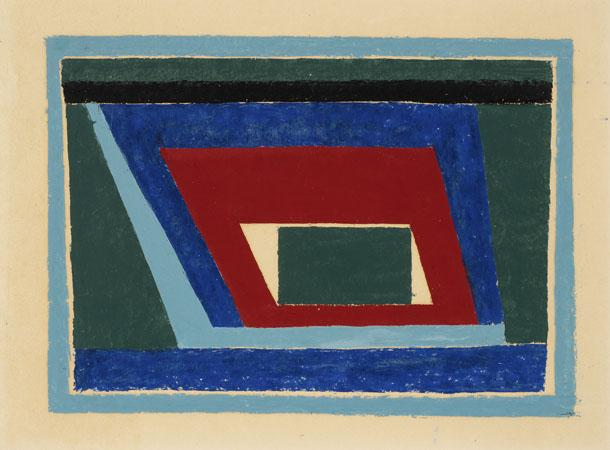 Untitled Abstraction (Mantic) - Josef Albers