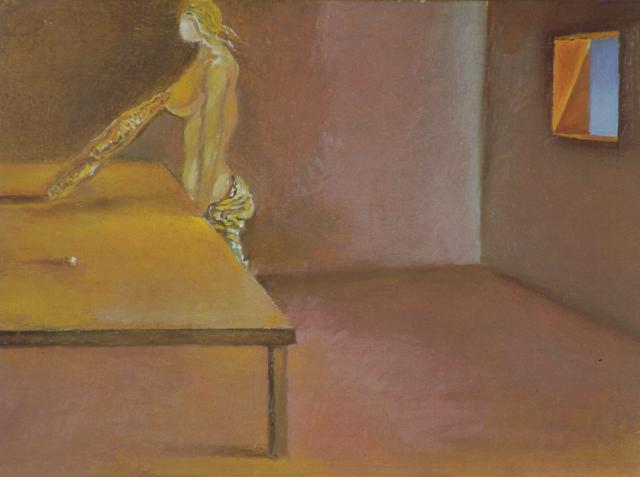 Untitled - Female Figure with Catalonian Bread - Salvador Dali
