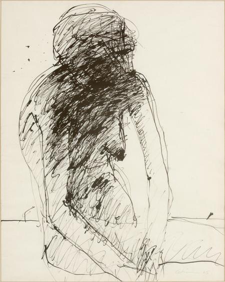 Untitled Female Nude - Nathan Oliveira