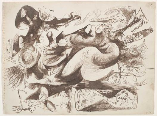 Untitled (O'Connor-Thaw 770) - Jackson Pollock
