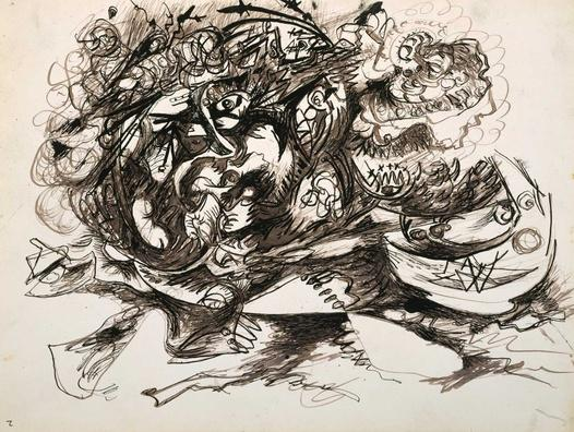 Untitled (O'Connor-Thaw 771) - Jackson Pollock
