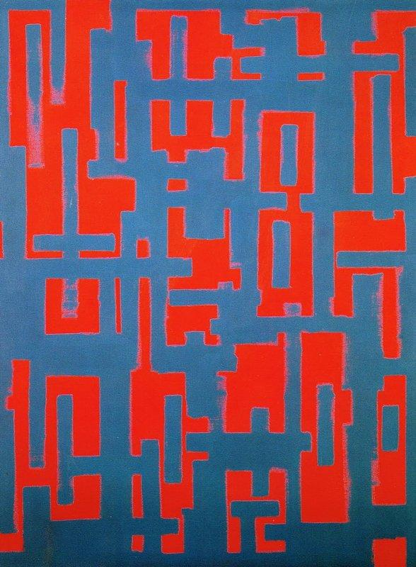Untitled (Red and Gray) - Ad Reinhardt