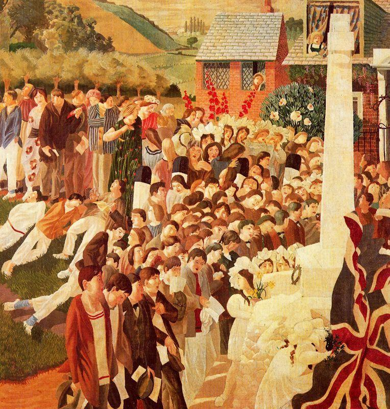 Unveiling Cookham war memorial - Stanley Spencer