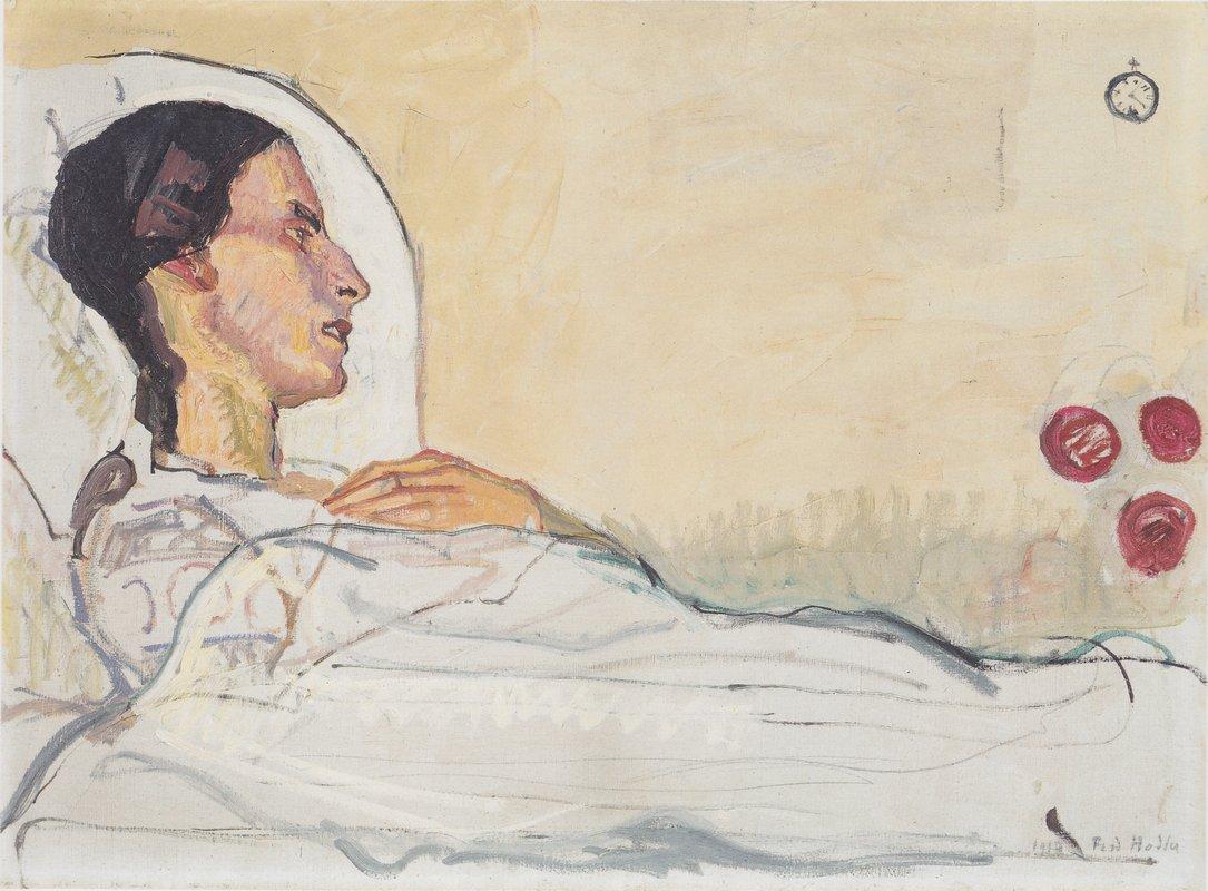 Valentine Gode Darel in hospital bed - Ferdinand Hodler
