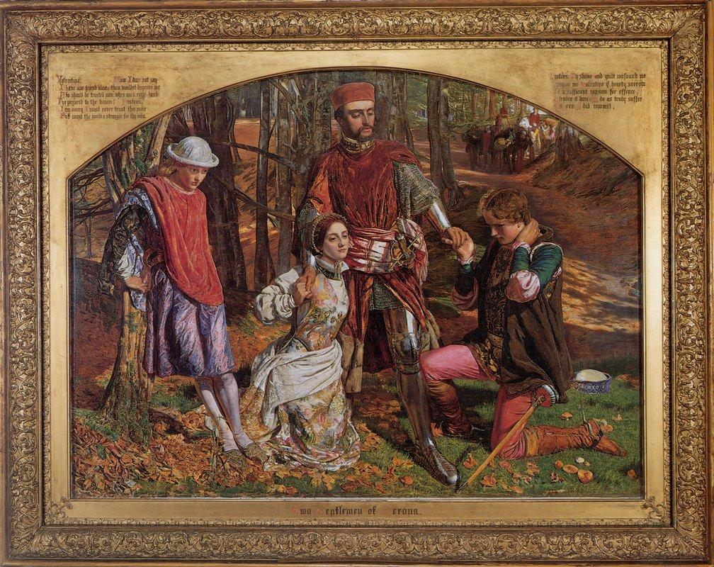 Valentine Rescuing Silvia from Proteus - William Holman Hunt