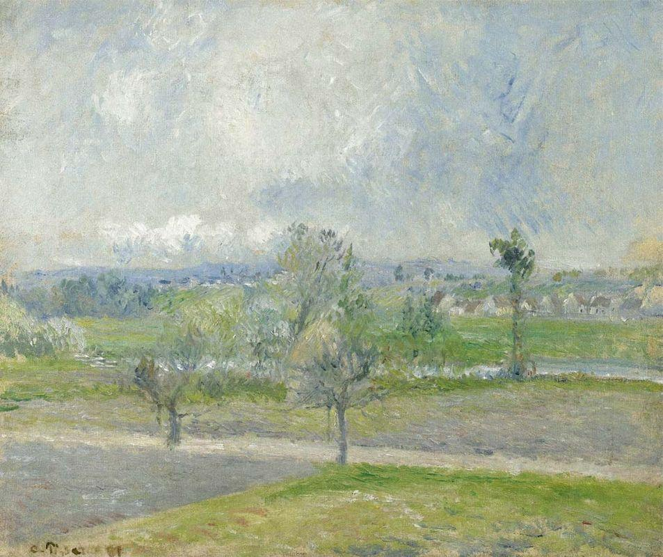 Valhermeil near Oise, Rain effect - Camille Pissarro