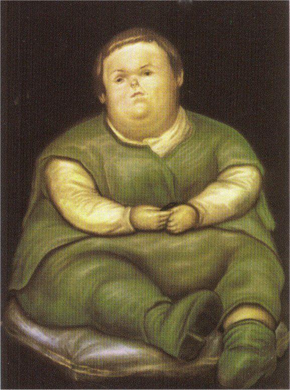Vallecas the Child (after Velasquez) - Fernando Botero