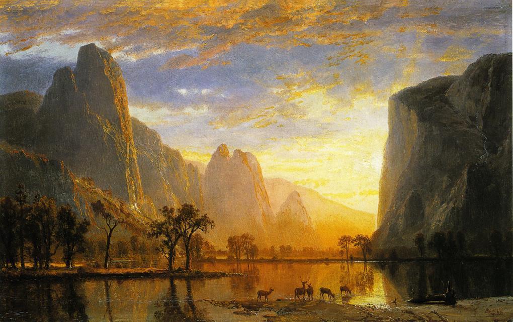 Valley of the Yosemite  - Albert Bierstadt