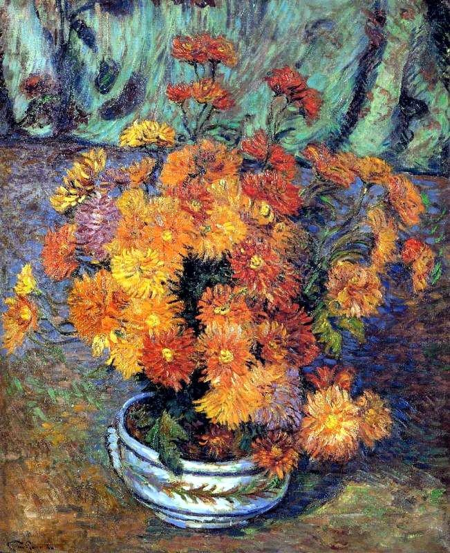 Vase de chrysanthemes - Armand Guillaumin