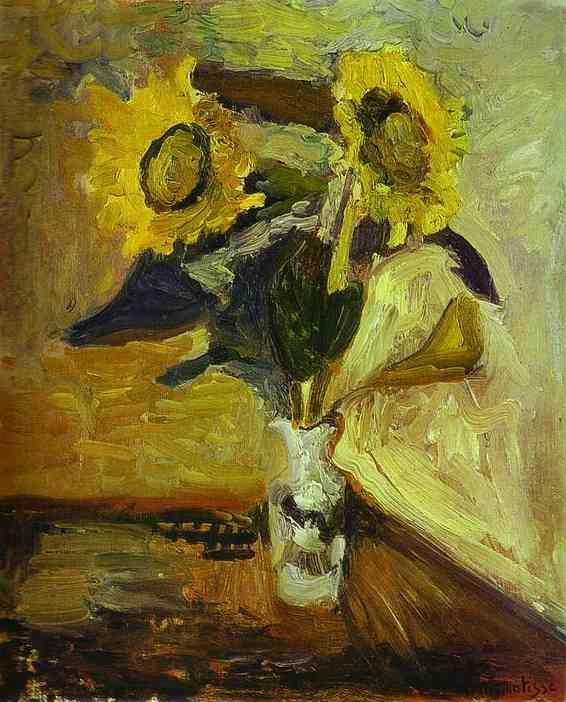 Vase of Sunflowers - Henri Matisse