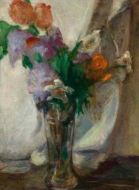 Vase with flowers - Maurice Utrillo