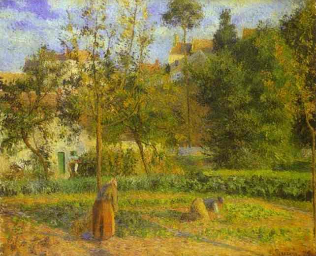 Vegetable Garden at Hermitage near Pontoise - Camille Pissarro