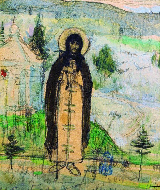 Venerable Sergius of Radonezh (sketch) - Mikhail Nesterov