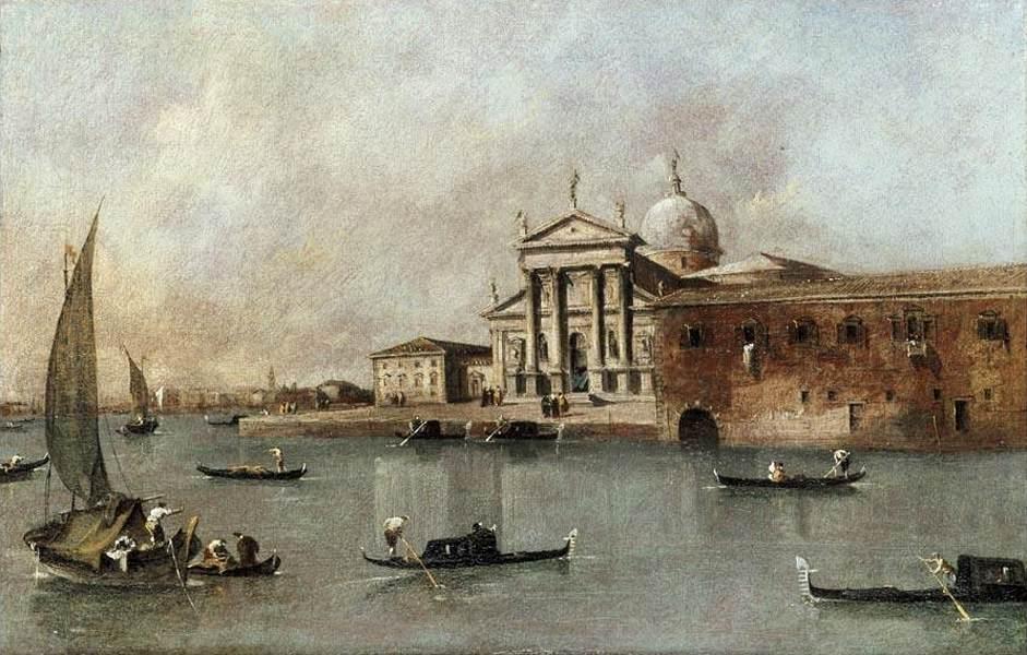 Venice: A View of the Church of San Giorgio Maggiore Seen from the Giudecca - Francesco Guardi