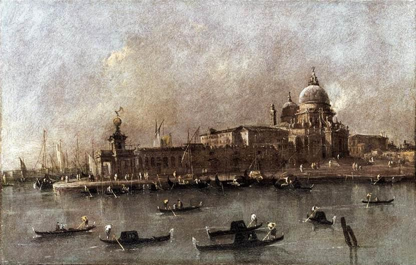Venice: A View of the Entrance to the Grand Canal - Francesco Guardi