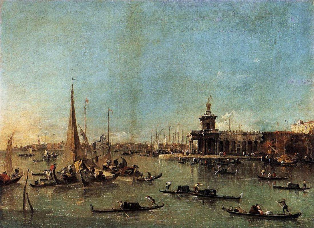 Venice: The Dogana with the Giudecca - Francesco Guardi