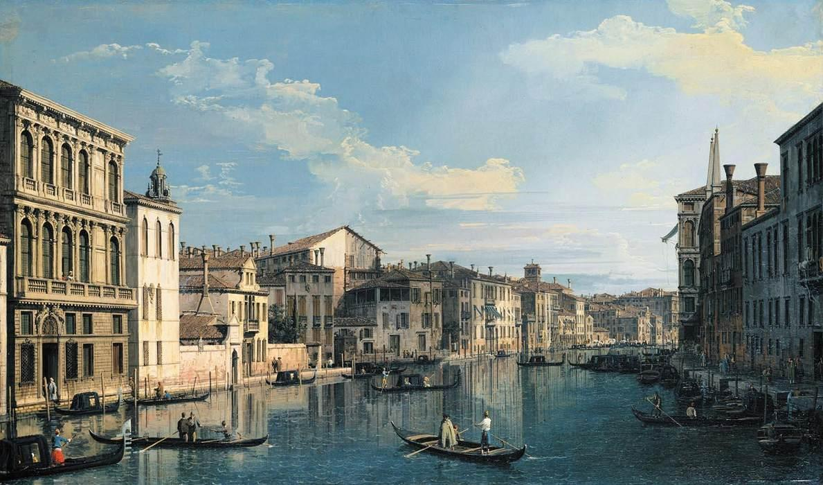 Venice: The Grand Canal from Palazzo Flangini to the Church of San Marcuola - Canaletto