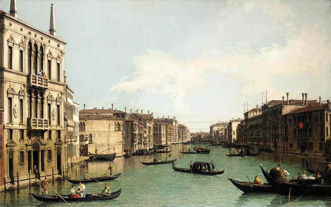 Venice: The Grand Canal, Looking North East from Palazzo Balbi to the Rialto Bridge - Canaletto