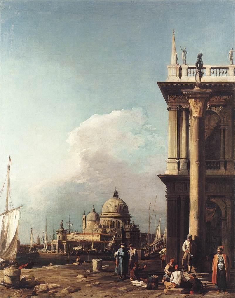 Venice,  The Piazzetta Looking South west towards Santa Maria della Salute - Canaletto