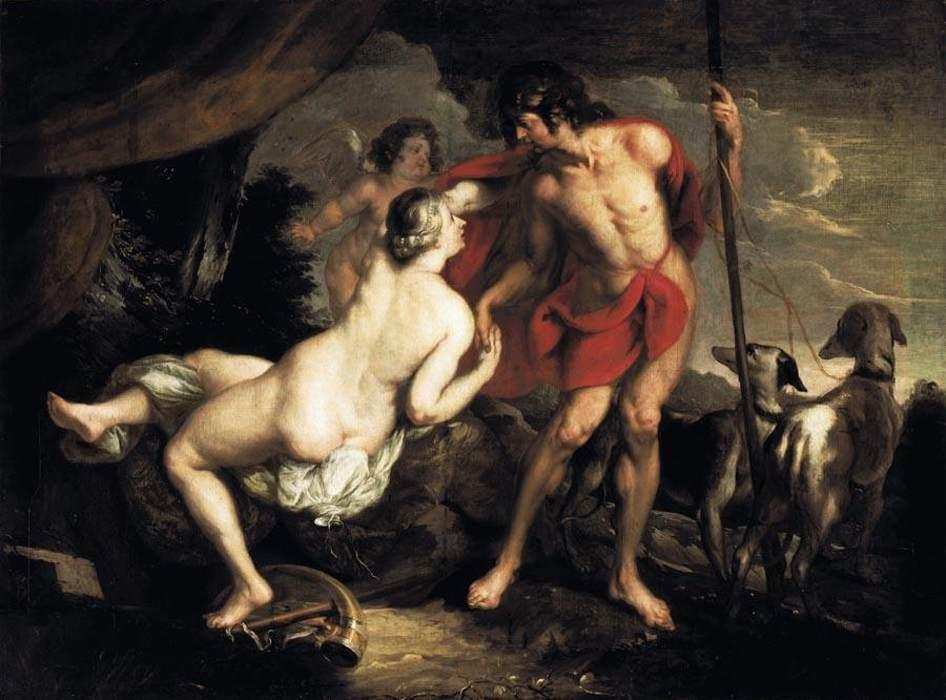 Venus and Adonis - Nicolas Poussin