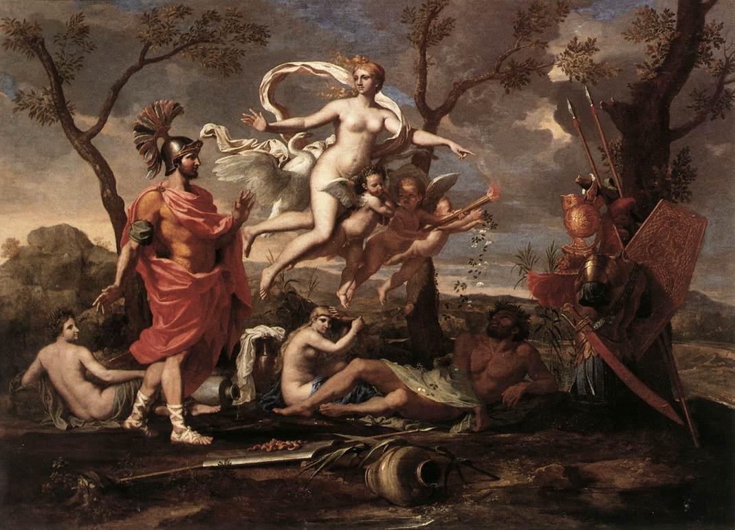 Venus Presenting Arms to Aeneas - Nicolas Poussin