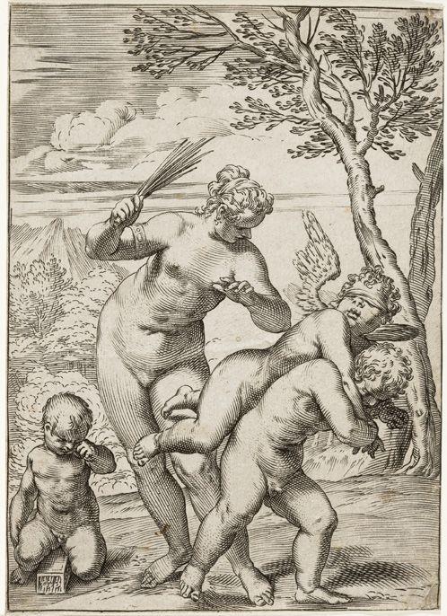 Venus Punishing Profane Love - Agostino Carracci