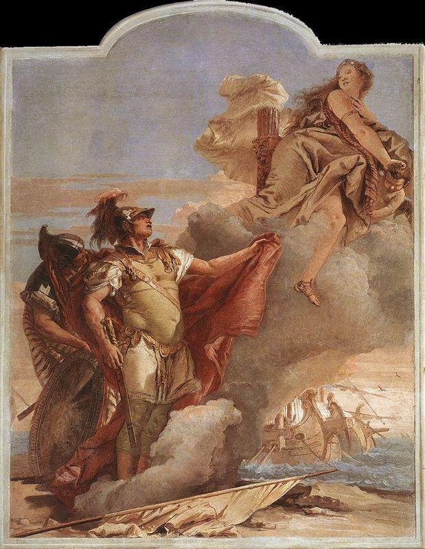 Venus's Farewell to Aeneas, from the Room of the Aeneid in the Palazzina - Giovanni Battista Tiepolo