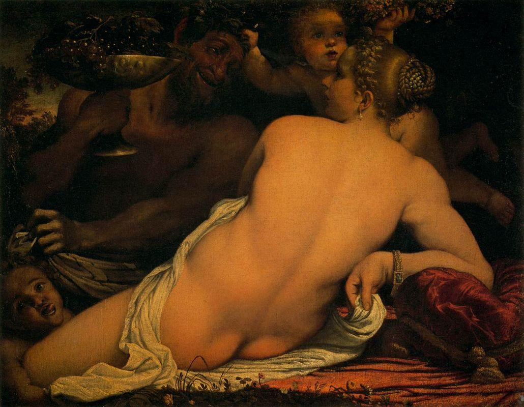 Venus with a Satyr and Cupids - Annibale Carracci