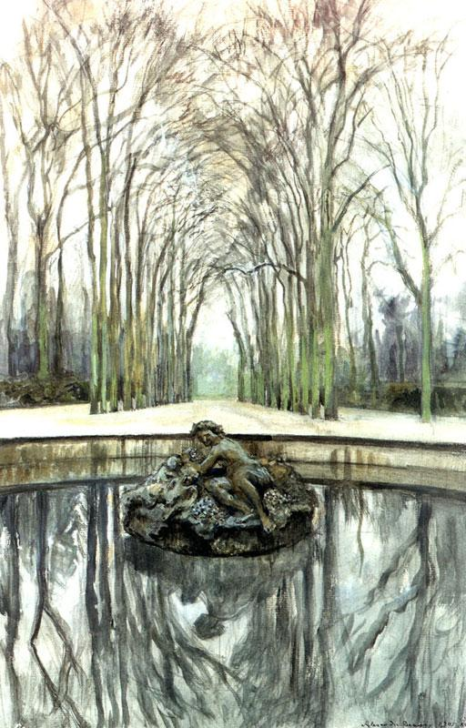 Versailles. Fountain of Bacchus in the winter - Alexandre Benois