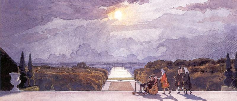 Versailles. King's walk  - Alexandre Benois