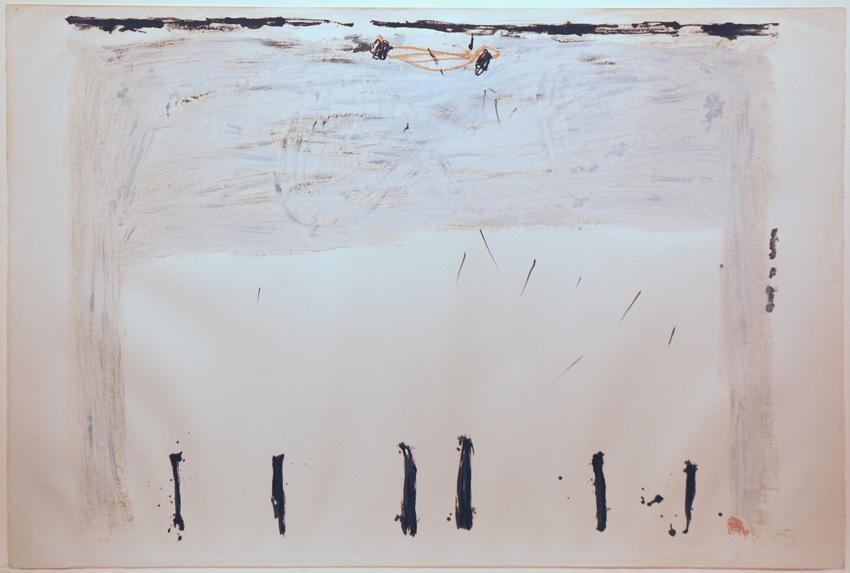 Verticales en bas - Antoni Tapies
