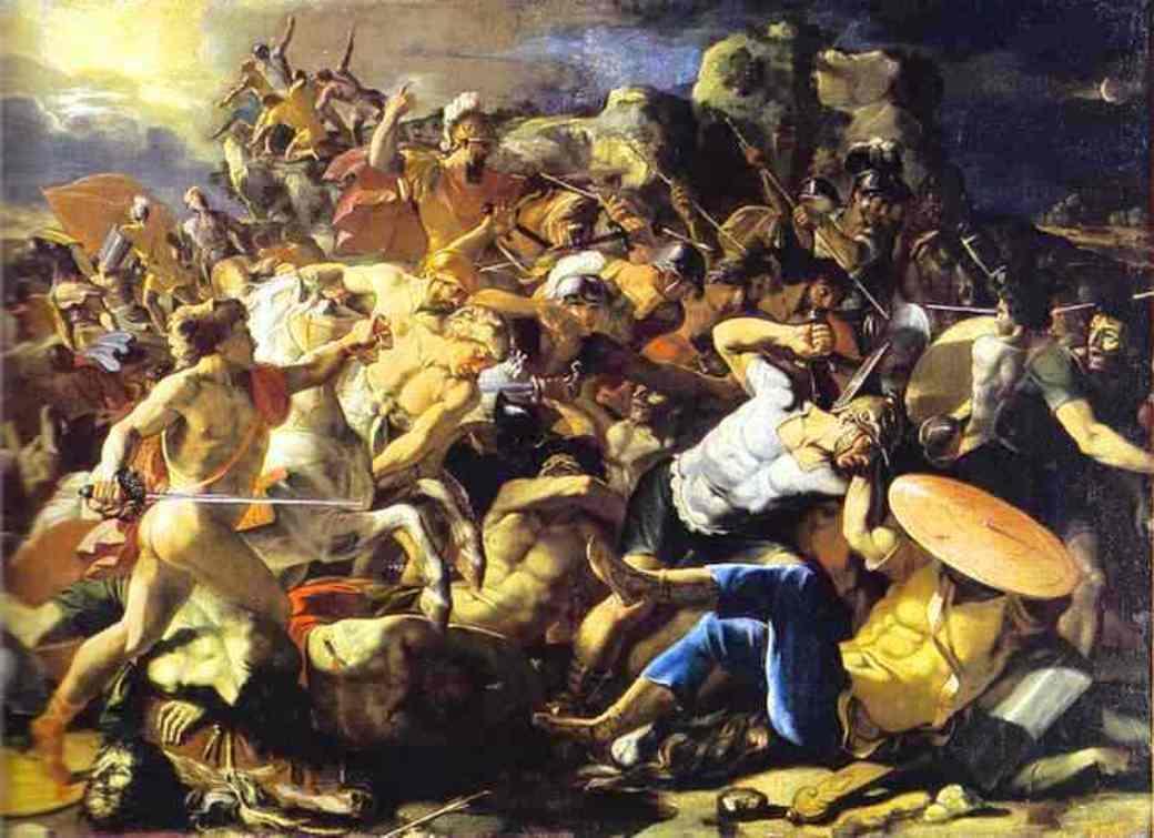 Victory of Joshua over Amorites - Nicolas Poussin