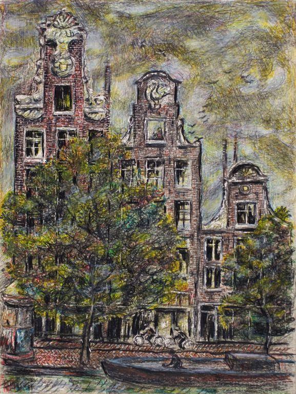 View from Hotel Window, Prinsenstraat Amsterdam, Holland - Ivan Albright