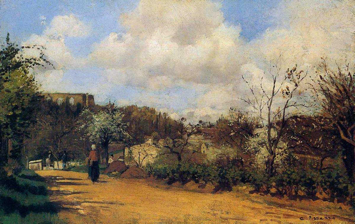 View from Louveciennes - Camille Pissarro