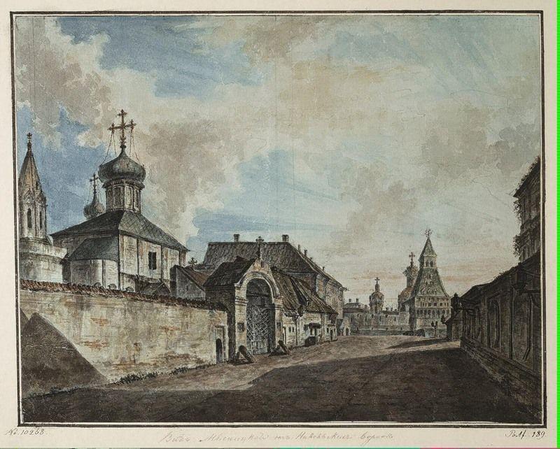 View from the Lubyanka square to Vladimirskiye gate - Fyodor Alekseyev