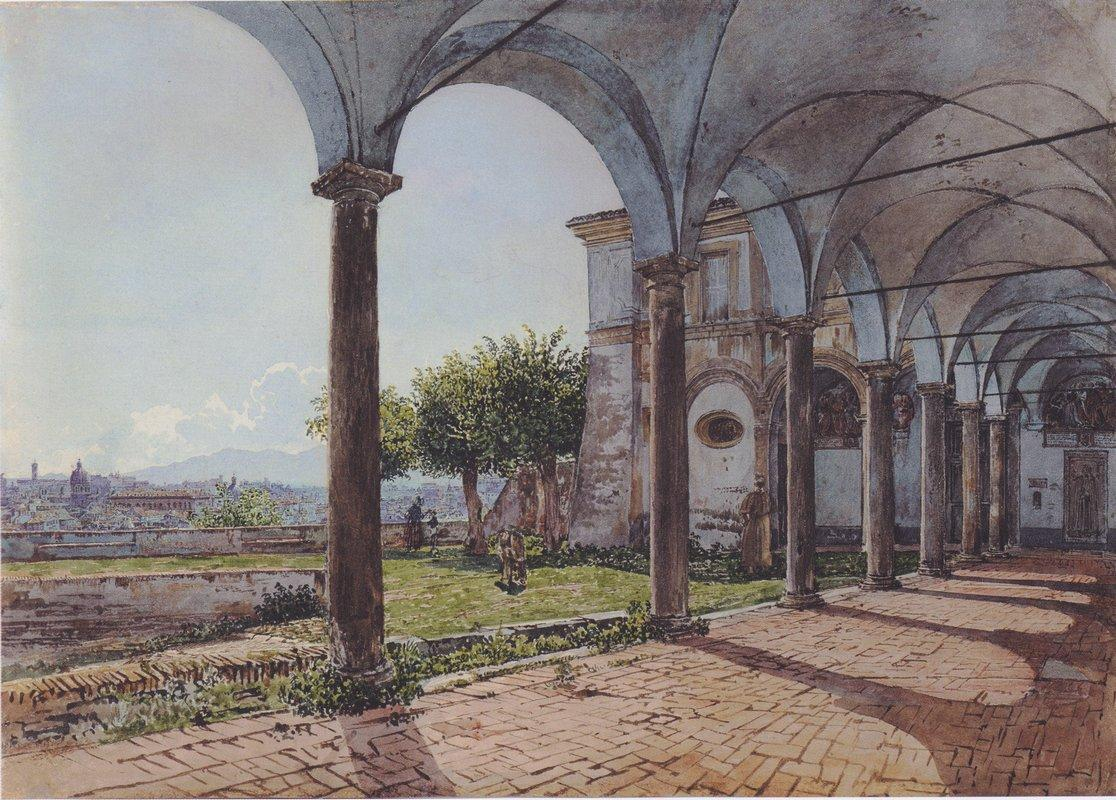 View from the Monastery of Sant 'Onofrio in Rome - Rudolf von Alt