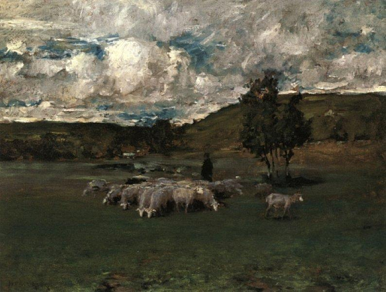 View near Polling - William Merritt Chase