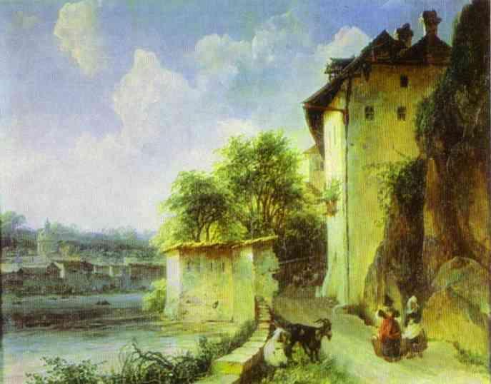 View of Albano, near Rome - Mikhail Lebedev