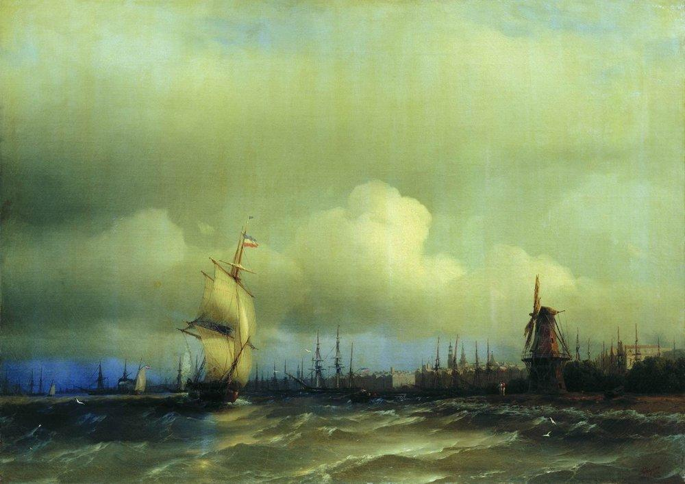 View of Amsterdam - Ivan Aivazovsky