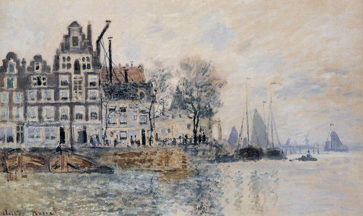 View of Amsterdam - Claude Monet