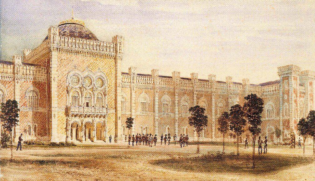 View of Arsenal Museum - Rudolf von Alt