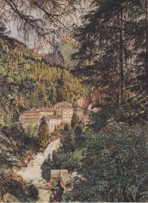 View of Bad Gastein - Rudolf von Alt