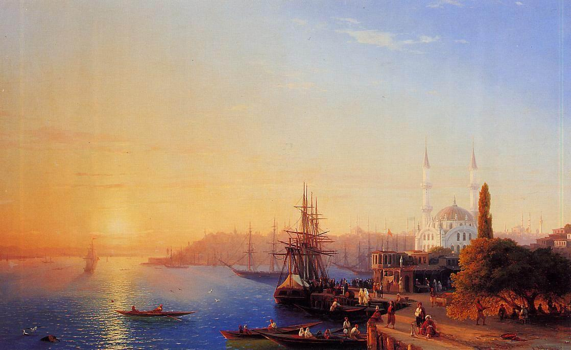 View of Constantinople and the Bosporus - Ivan Aivazovsky